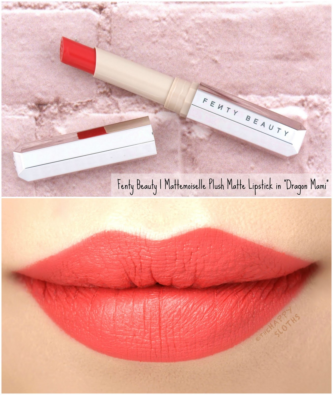 "Fenty Beauty by Rihanna | Mattemoiselle Plush Matte Lipstick in ""Dragon Mami"": Review and Swatches"