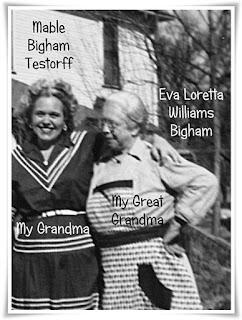 Mable Louise Bigham and Mother Eva Williams Bigham