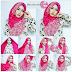 Cara Mengunakan Jilbab Pashmina Satin Kombinasi Batik