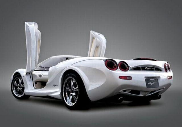auto blanco moderno