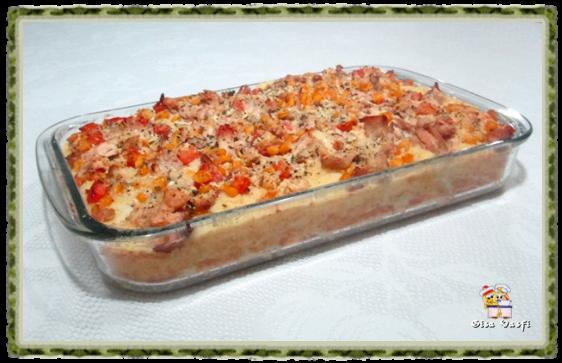 Torta de arroz e frango 1