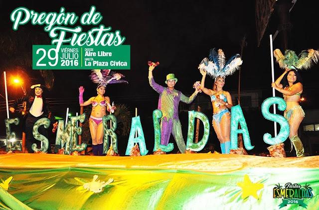 Programa completo de las fiestas de Esmeraldas 2016
