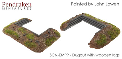 SCN-EMP9       Dugout with wooden log internal (x2)