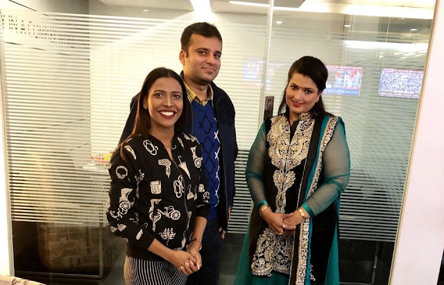Film critic Murtaza Ali Khan with model-actress Mia Lakra and renowned astrologer Dr. Rakhi Yallapragada ahead of a live panel discussion