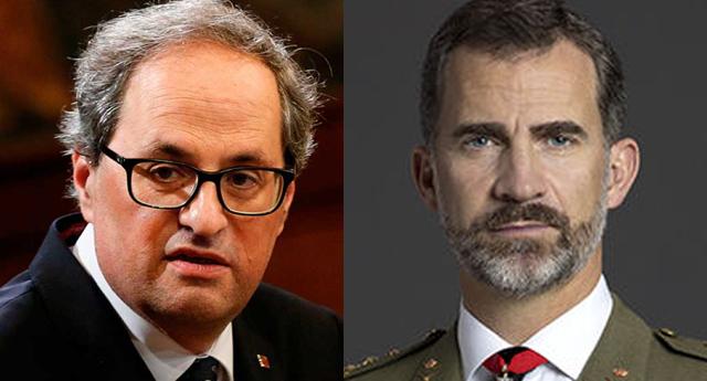 """Quim Torra afirma que Felipe VI """"ya no es el rey de los catalanes"""""""