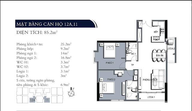 Căn hộ 11, 12A chung cư One18