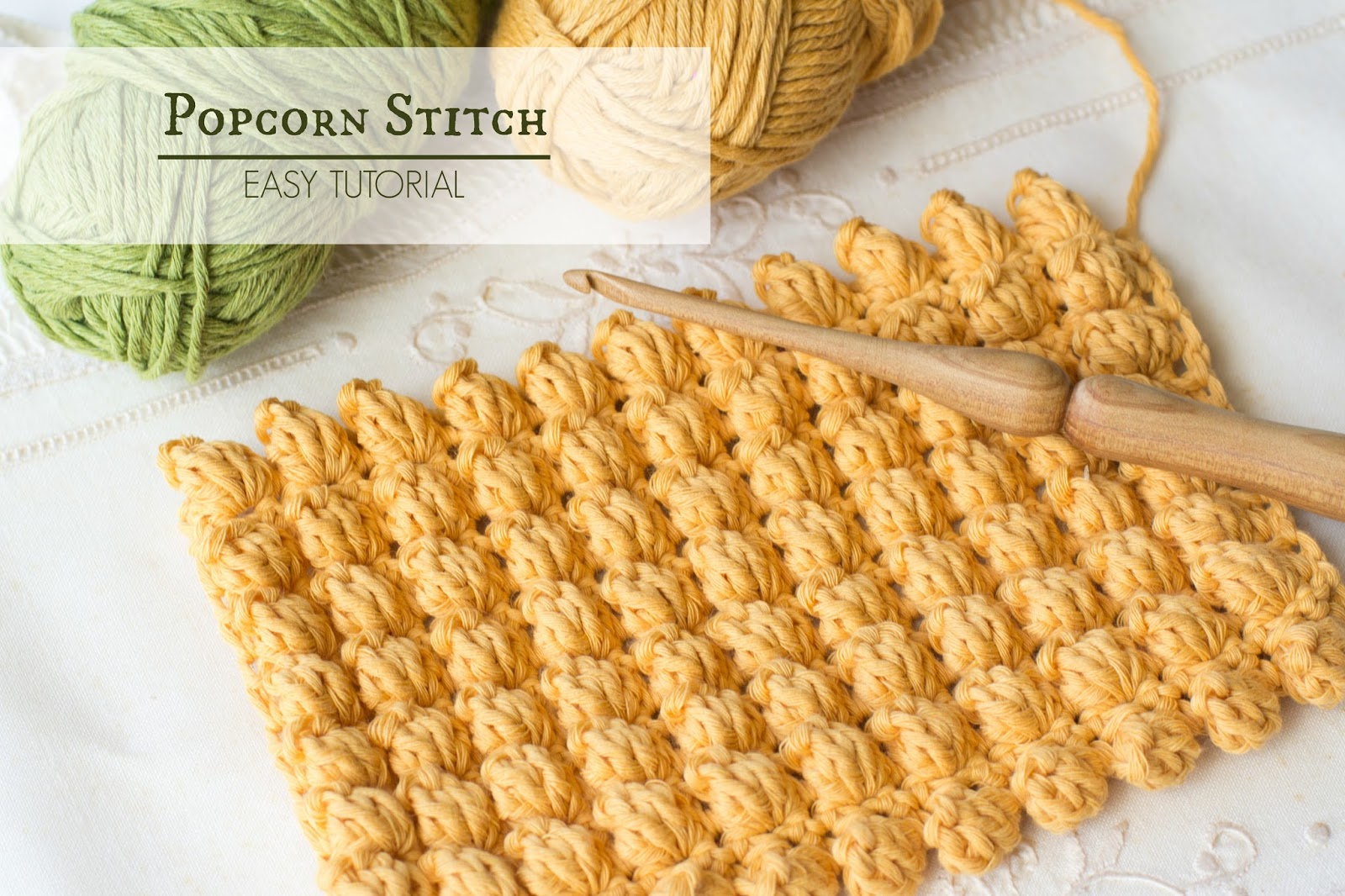 How To: Crochet The Popcorn Stitch  Easy Tutorial