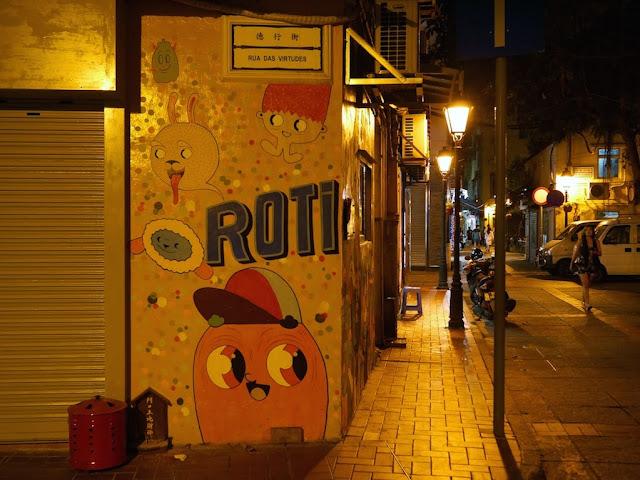 Sign for Rua das Virtudes in Taipa, Macau