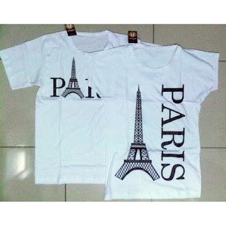 Jual Online Paris Batwing Couple Murah di Jakarta Bahan Combed Terbaru