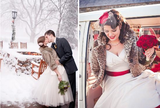 alternative alla stola per la sposa, brides wearing furs