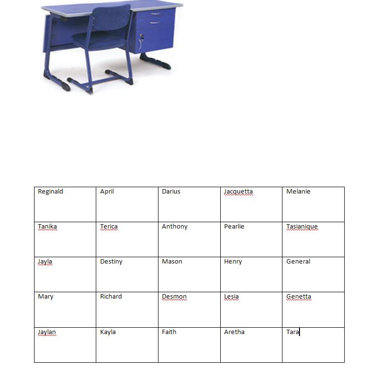 Assignment #1: Computer Lab Seating Chart
