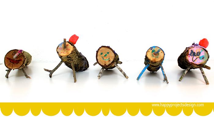 5 ecocrafs navideñas: tronquitos