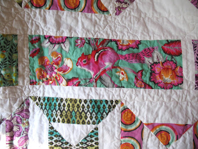 Tula Pink Double Hour Glass Quilt from Ye Olde Sweatshop