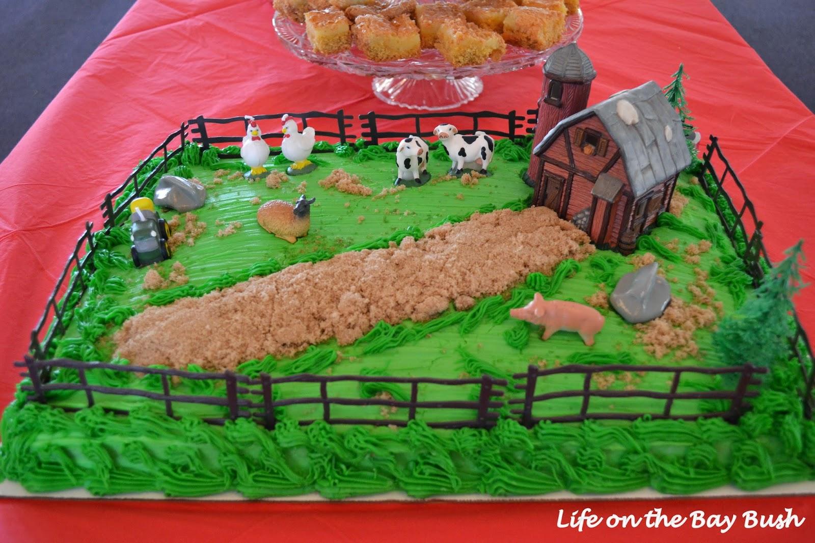 Farm Shower Cake