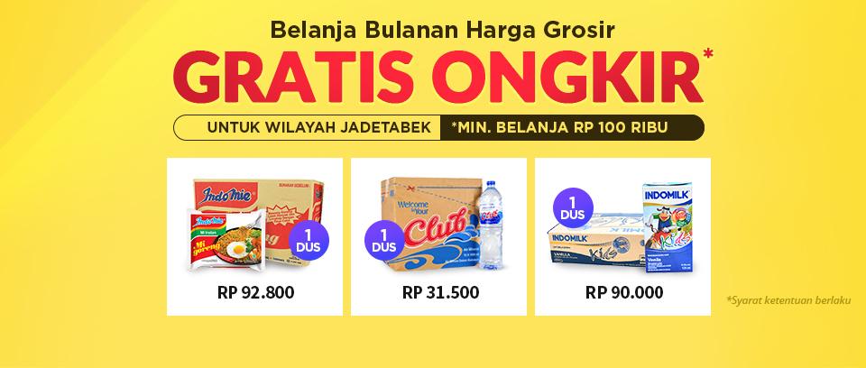 #Elevenia - #Promo Gratis Ongkir Belanja Bulanan Harga Grosir (s.d Juni 2019)