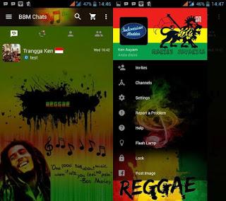 BBM MOD Reggae V3.0.0.18 APK Terbaru 2016