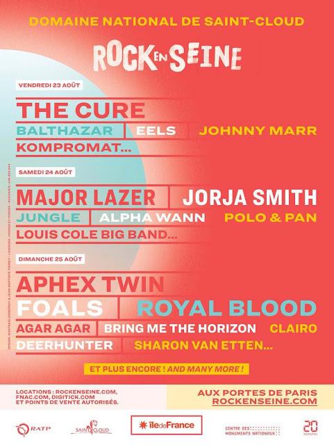 Rock en Seine revient du 23 au 25 aout 2019 à Paris