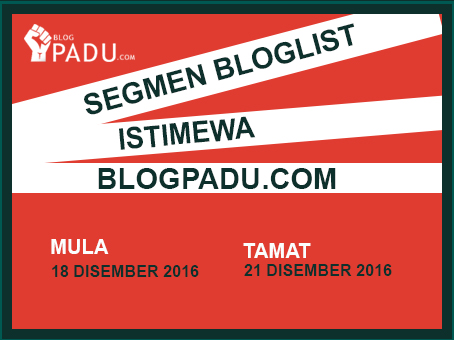 SEGMEN BLOGLIST ISTIMEWA BLOGPADU.COM