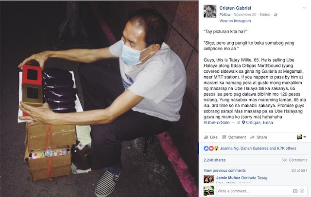 65-Year-Old 'Tatay' Goes Viral Because of His Best-Selling Ube Halaya!