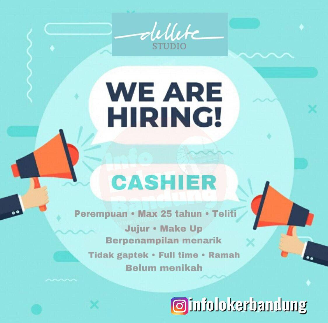 Lowongan Kerja Cashier Dellete Studio Bandung April 2019