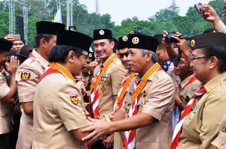 Hari Pramuka Nasional, Bupati Iskandar Dianugerahi Lencana Melati