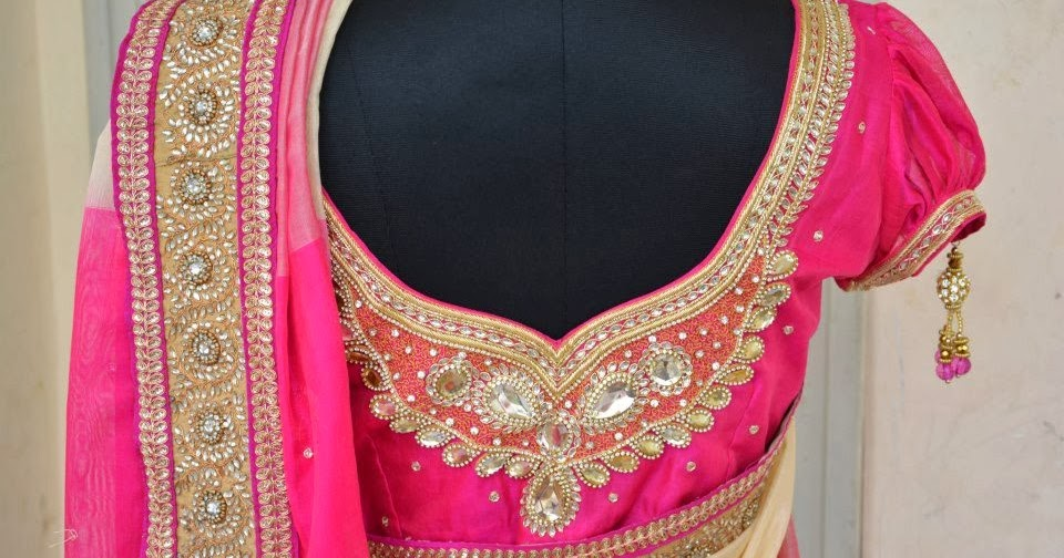 Stone Work Bridal Saree Blouse Latest Blouse Designs