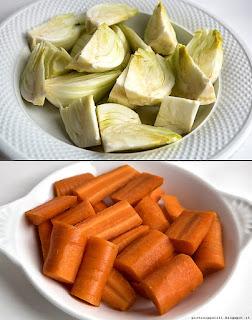 piatto di finocchi e carote