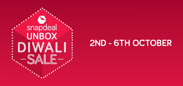 Snapdeal Unbox Diwali Sale 2016 Offers: Get upto 90% Off on All Products