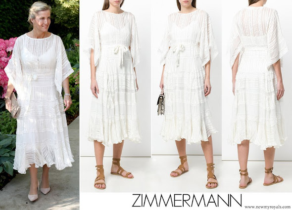 Countess Sophie wore ZIMMERMANN Lace Midi Dress