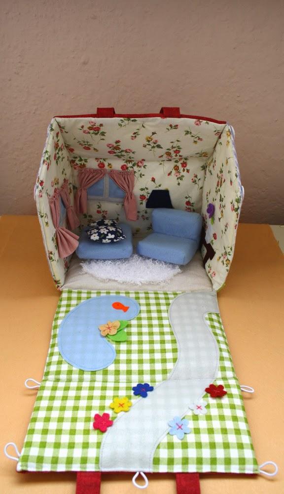monaH.toys  Rozkladateľný látkový domček pre bábiky 52f315a0bf4