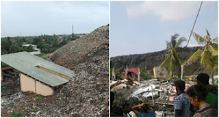 Garbage dump collapses -- 40 houses damaged ... 7 injured ... several people missing