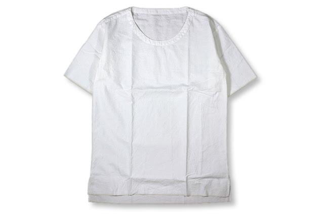 theSakaki [ theBang織物 Uネックショートスリーブ ] White