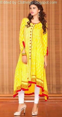 55921e7da00c Exclusive Pakistani Casual Dresses 2015-16