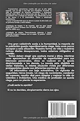 """Contraportada """"Cegados"""" 2ª Edición"""