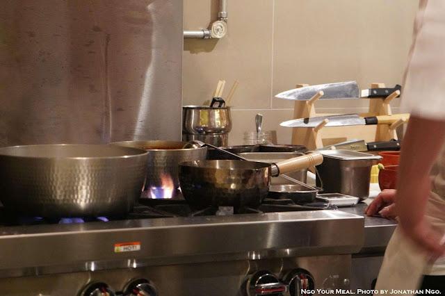 Kitchen at Shuraku in New York City