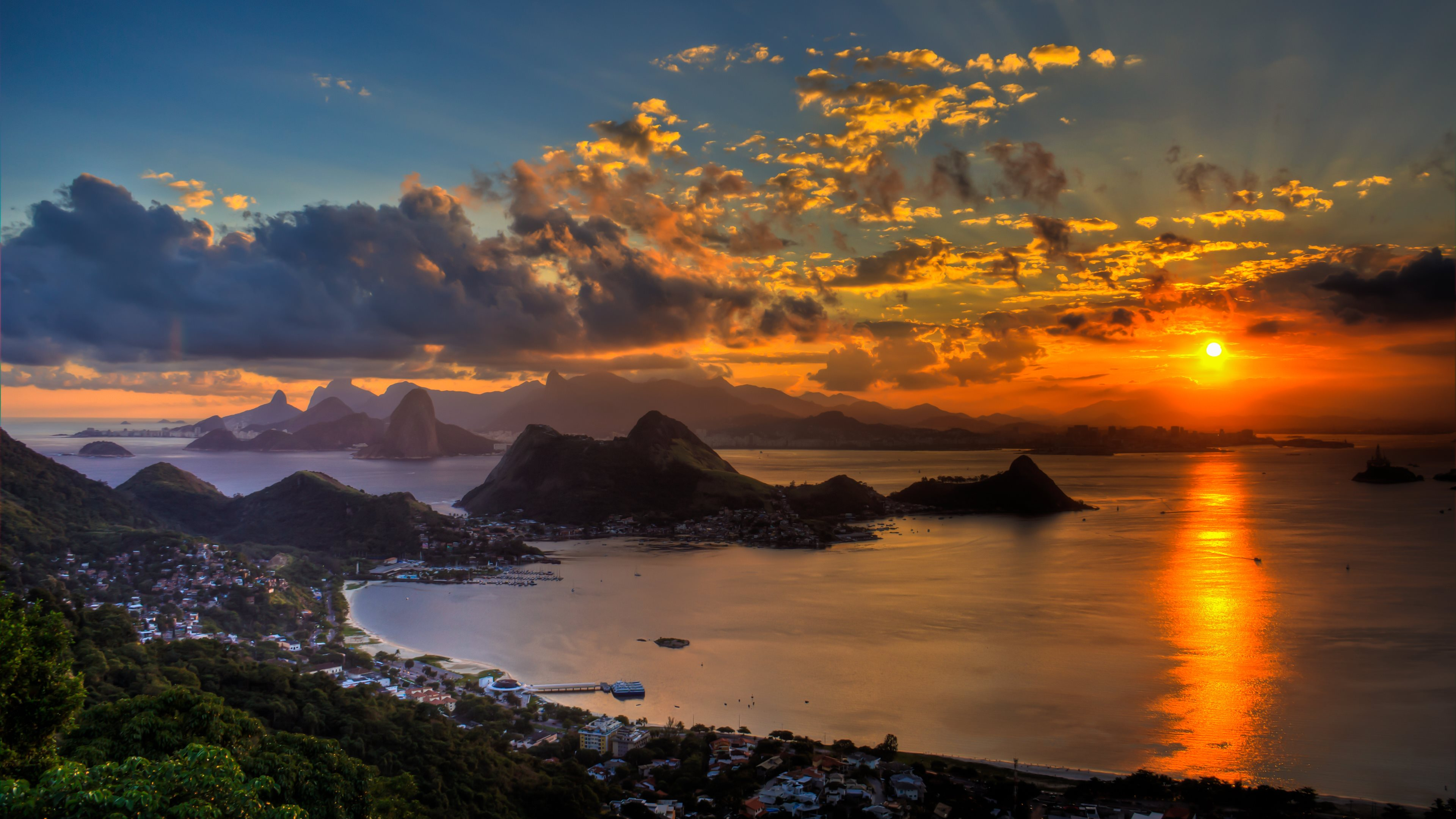 sunset at rio de janeiro wallpapers in hd 4k and wide sizes