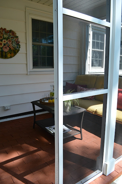 Covered Porch with screening on the walls