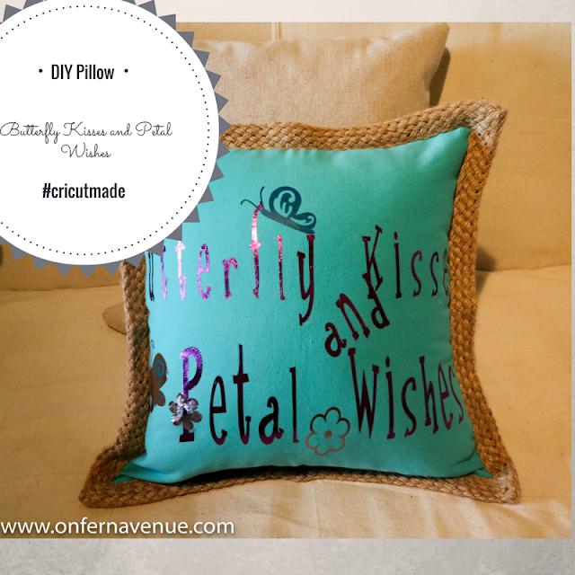 Cricut Made Iron On Pillow