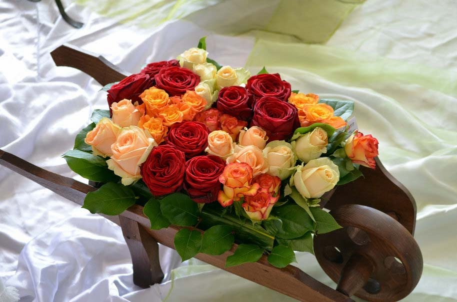 roses-bouquets-red-white-yellow-decoration-hd