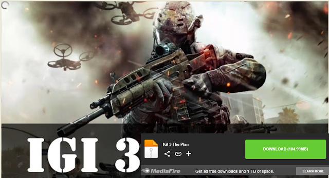 تحميل لعبة igi 3 للكمبيوتر كاملة ومضغوطة من ميديا فاير