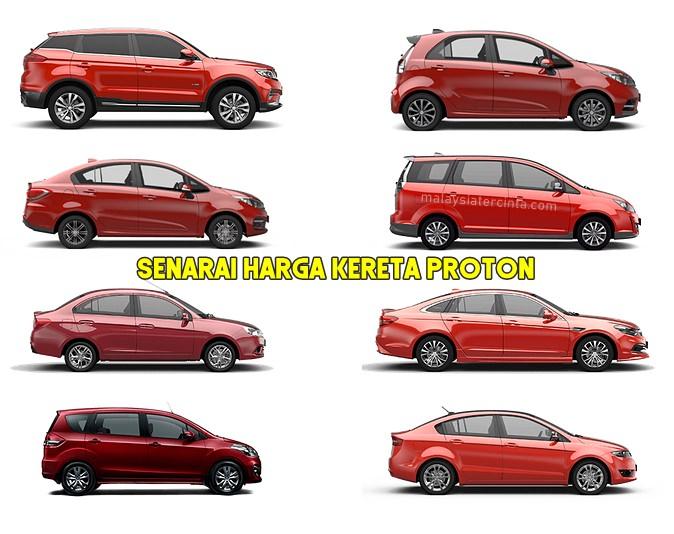 senarai harga kereta Proton X70 Iriz Persona Exora Saga Perdana Ertiga Preve 2019