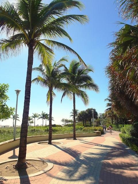 Miami Beach strandpromenad