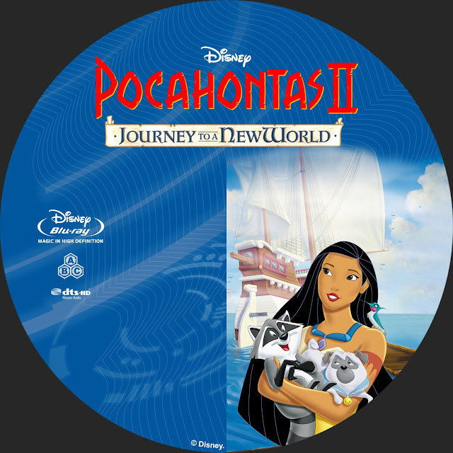 Pocahontas Journey To A New World Bluray Label