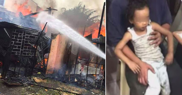 Toddler Survives Fire/ABS-CBN