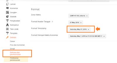 menampilkan tanggal pada tiap posting terbaru Cara buat blog itu- Kode Tanggal Posting Blog: dateHeader dan timestamp