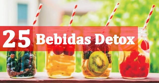 25 Bebidas Detox Para Perda de Peso e Limpeza