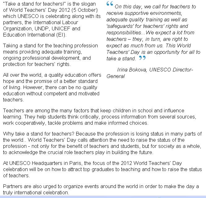 Celebrating World Teacher's Day
