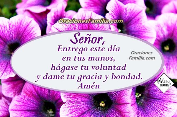 Oración de la mañana, de buenos días, frases cristianas con oraciones para tener un buen día, reflexión cristiana de la oración por Mery Bracho.