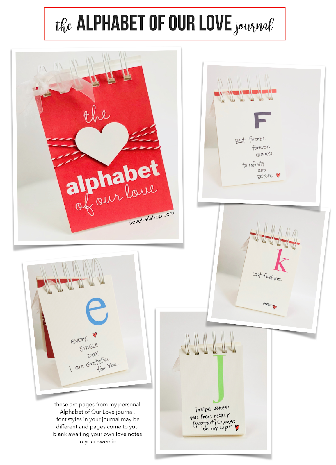 #Alphabet of Our Love #list ideas #love letters #Alphabet List Ideas #Book of Love #Love Letter Ideas #I Love It All #Letter f #Letter K #Letter J #Letter E
