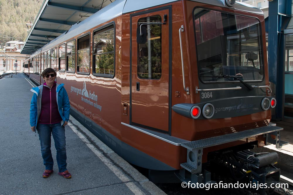Tren cremallera a Gornergrat, Zermatt